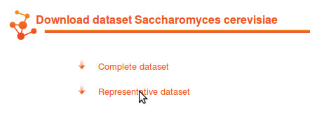 The two types of downloadable datasets